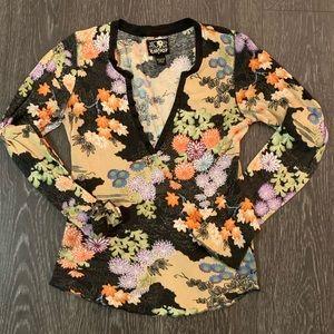 Lucky Multi-colored Fall Long Sleeve Shirt